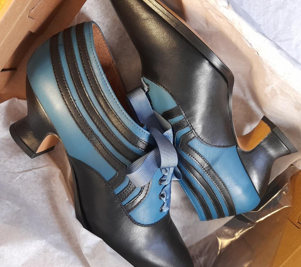 Bernadette shoes by American Duchess Blue